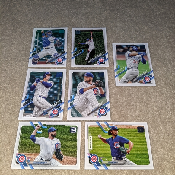 2021 Topps Chicago cubs lot of 7
